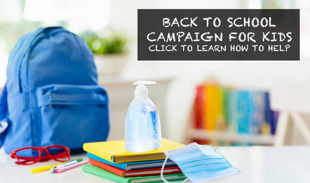 Back to School Campaign for Kids - Click to learn how to help.